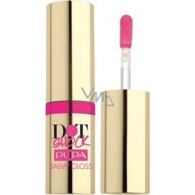 Pupa Dot Shock Balmy Gloss lesk na rty s balzámovým účinkem 002 Pink Beauty 6,5 ml