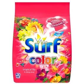 Surf Color Tropical Lily & Ylang Ylang prací prášek na barevné prádlo 60 pracích dávek 4,2 kg