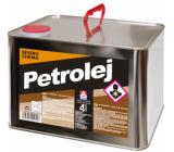 Severochema Petrolej určen na svícení v petrolejových lampách a čištění 4 L v plechovce