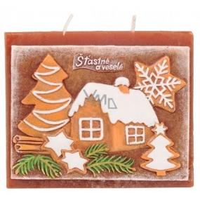 Candles Vánoční perník vonná svíčka plochá 130 x 100 mm