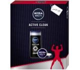 Nivea Men Creme krém 75 ml + Men Active Clean sprchový gel 250 ml, kosmetická sada