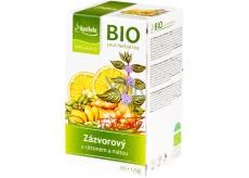 Apotheke Bio Zázvor s citronem a mátou bylinný čaj napomáhá k trávení, obranyschopnosti 20 x 1,5 g