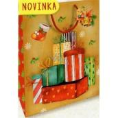 Nekupto Dárková papírová taška velká 32,5 x 26 x 13 cm Vánoční 1811 30 WBL
