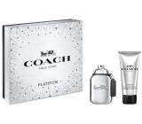 Coach Platinum parfémovaná voda pro muže 60 ml + sprchový gel 100 ml, dárková sada