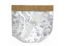 Albi Eko košík vyrobený z pratelného papíru malý - stříbrný, výška14 cm