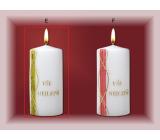 Lima Jubilejní svíčka zelenozlatý pruh Vše nejlepší 70 x 150 mm 1 kus