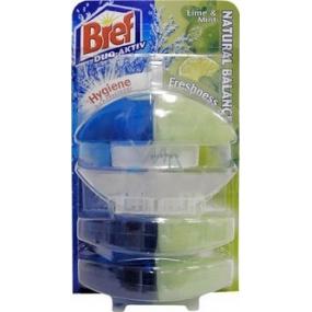 Bref Duo Aktiv Extra Clean & Fresh Limetka a Máta WC gel komplet 60 ml + 2x náhradní náplň