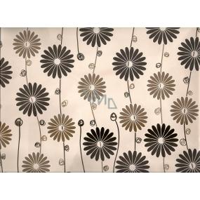 Nekupto Dárková kraftová taška střední 32,5 x 26 x 13 cm Světlá s květy 1 kus 247 CL
