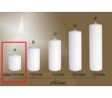 Lima Gastro hladká svíčka bílá válec 80 x 100 mm 1 kus