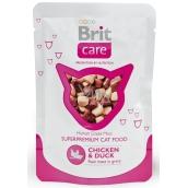 Brit Care Kuře + kachna kousky masa pro dospělé kočky kapsička 80 g