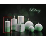 Lima Aromatická spirála Relaxy svíčka bílo - zelená válec 50 x 100 mm 1 kus
