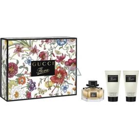 Gucci Flora parfémovaná voda pro ženy 50 ml + 2 x tělové mléko 50 ml, dárková sada