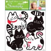 Room Decor Samolepky kočky černobílé 32 x 26 cm
