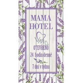 Bohemia Gifts & Cosmetics Dekorační obraz na zavěšení Mama hotel 20 x 40 cm