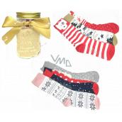 Epee Vánoční ponožky ve skleněné láhvi s uchem pro ženy mix motivů 1 pár, dárkové balení