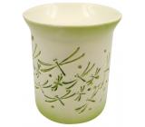 Aromalampa porcelánová se zelenými vážkami 11 cm