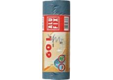 Alufix Uni Sáčky do odpadkového koše zatahovací modré 60 litrů, 64 x 70 cm, 15 kusů