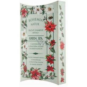 Bohemia Gifts & Cosmetics Green Spa s glycerinem a kvalitním olejem ze semen konopí ručně vyráběné toaletní mýdlo v papírové krabičce 100 g