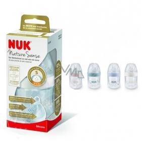 Nuk Nature Sense Láhev plastová kojící latexová savička 0 - 6 měsíců, velikost savičky S 150 ml