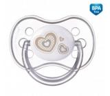Canpol babies Newborn Baby Šidítko silikonové symetrické béžové pro děti 0-6 měsíců 1 kus