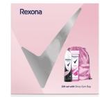 Rexona Orchid Fresh sprchový gel pro ženy 250 ml + Invisible Pure deodorant sprej pro ženy 150 ml + růžový batoh, kosmetická sada