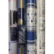 Zöllner Vánoční balicí papír bílo, modrý zmrzlá větvička 2 m x 70 cm