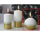 Lima Aroma linie svíčka zlatá koule 80 mm 1 kus