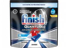 Finish Quantum Ultimate tablety do myčky, chrání nádobí a sklenice, přináší oslnivou čistotu, lesk 15 kusů