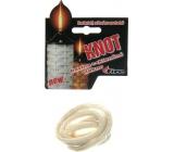 Fire Knot bavlněný + skleněné vlákno kulatý určený pro pochodně 9 mm/50 cm 1 kus