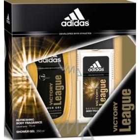 Adidas Victory League parfémovaný deodorant sklo pro muže 75 ml + sprchový gel 250 ml, kosmetická sada