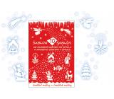 Šablony vánoční dekorační 10 motivů 31 x 21 cm