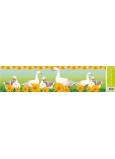 Room Decor Okenní fólie bez lepidla pruh velikonoční zvířátka husy 64 x 15 cm