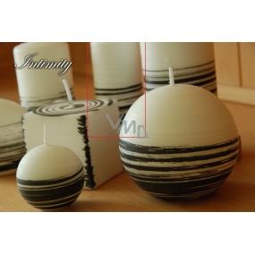 Lima Aromatická spirála Intimity svíčka bílo - černá válec 60 x 120 mm 1 kus