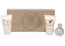 Versace Eros pour Femme parfémovaná voda 5 ml + sprchový gel 25 ml + tělové mléko 25 ml, dárková sada