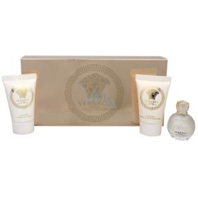 Versace Eros pour Femme parfémovaná voda pro ženy 5 ml + sprchový gel 25 ml + tělové mléko 25 ml, dárková sada