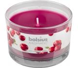 Bolsius Aromatic Wild Cranberry - Divoká Brusinka vonná svíčka ve skle 90 x 65 mm 247 g doba hoření cca 30 hodin