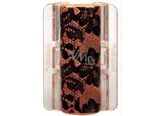 Linziclip Maxi Vlasový skřipec oranžový s krajkou 8 cm vhodný pro hustší vlasy 1 kus