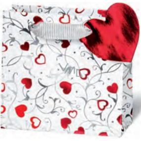 BSB Luxusní dárková papírová taška 23 x 19 x 9 cm Srdce LDT 362-A5