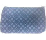 Etue Hranatá látková modrá s bílými kytičkami 20 x 11,5 x 1,5 cm 70160