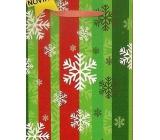 Nekupto Dárková papírová taška střední 23 x 18 x 10 cm Vánoční 1465 50 WBM