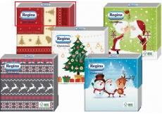 Regina Vánoční papírové ubrousky Červené, béžový pruh 1 vrstvé 33 x 33 cm 20 kusů