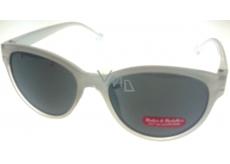 Dudes & Dudettes Sluneční brýle dětské bílé stranice se srdíčky DD16008