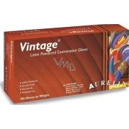 Aurelia Vitage jednorázové latexové rukavice s pudrem velikost M box 100 kusů
