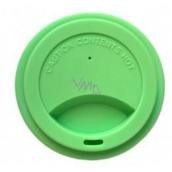 Jack N Jill BIO Silikonové víčko na kelímek zelené 8,7 x 1,8 cm