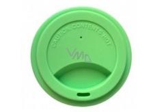 Jack N Jill Silikonové víčko na kelímek zelené 8,7 x 1,8 cm