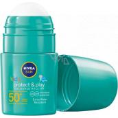 Nivea Sun Kids OF 50+ zelené dětské barevné mléko na opalování v kuličce 50 ml