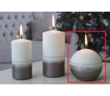Lima Aroma linie svíčka světle hnědá koule 80 mm 1 kus