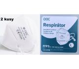 DOC Respirátor ústní ochranný 4-vrstvý FFP3 2 kusy