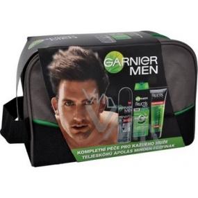 Garnier Men Trio šampon 250 ml + deo sprej 150 ml + gel 200 ml + taška, kosmetická sada