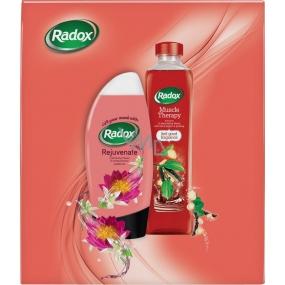 Radox Rejuvenate Pomerančové květy a Lotosový květ sprchový gel 250 ml + Muscle Therapy koupelová pěna 500 ml, kosmetická sada